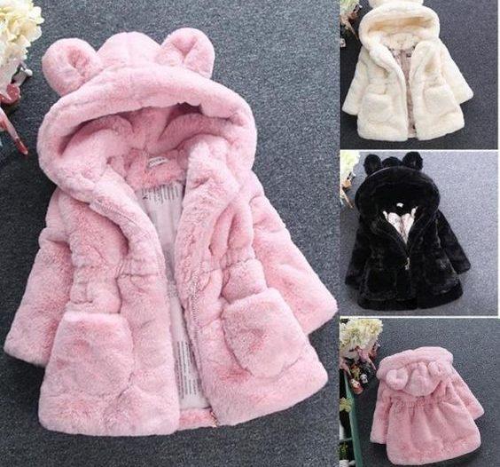 Paltonas fete copii iarna